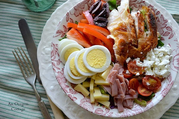Chef's Salad with Rotisserie Chicken - An Oregon Cottage