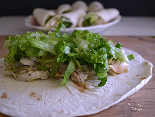Easy Rotisserie Chicken Caesar Wraps - An Oregon Cottage