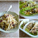 Cranberry Feta Chicken Salad lettuce and tortilla wraps - An Oregon Cottage