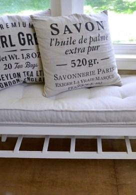DIY Tufted French Mattress Cushion {Ballard Catalog Knockoff}