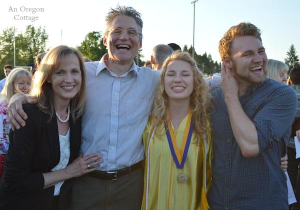 An Oregon Cottage Family at HS Graduation