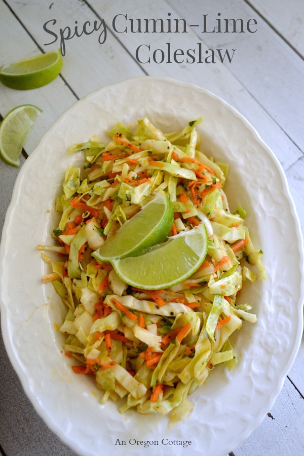 Spicy Cumin-Lime Coleslaw - An Oregon Cottage