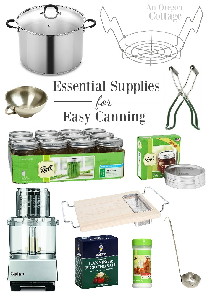 Essential Supplies for simple and easy canning