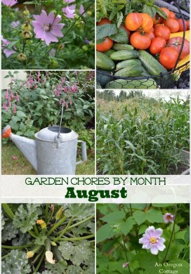 Garden Chores for August for Flowers & Vegetables