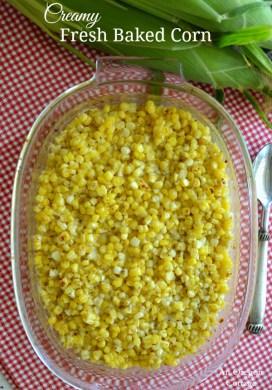 Creamy Fresh Baked Corn
