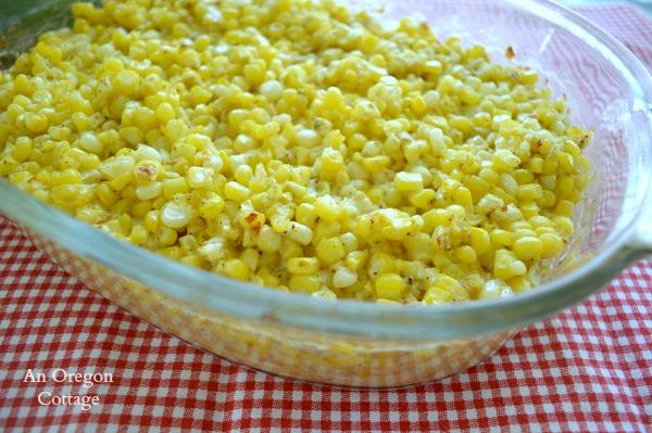 Creamy Fresh Corn Bake Casserole - An Oregon Cottage