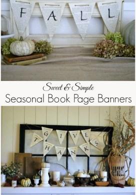Sweet & Simple Seasonal Book Page Banners