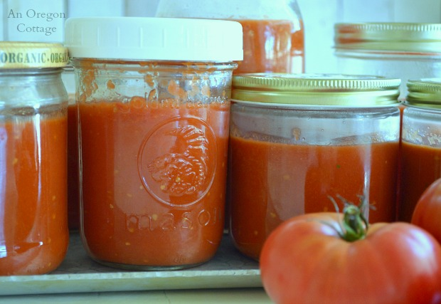 Versatile Plain Roasted Tomato Sauce to Freeze - An Oregon Cottage