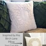 DIY Felt Wreath Pillow {a Birch Lane Knockoff}