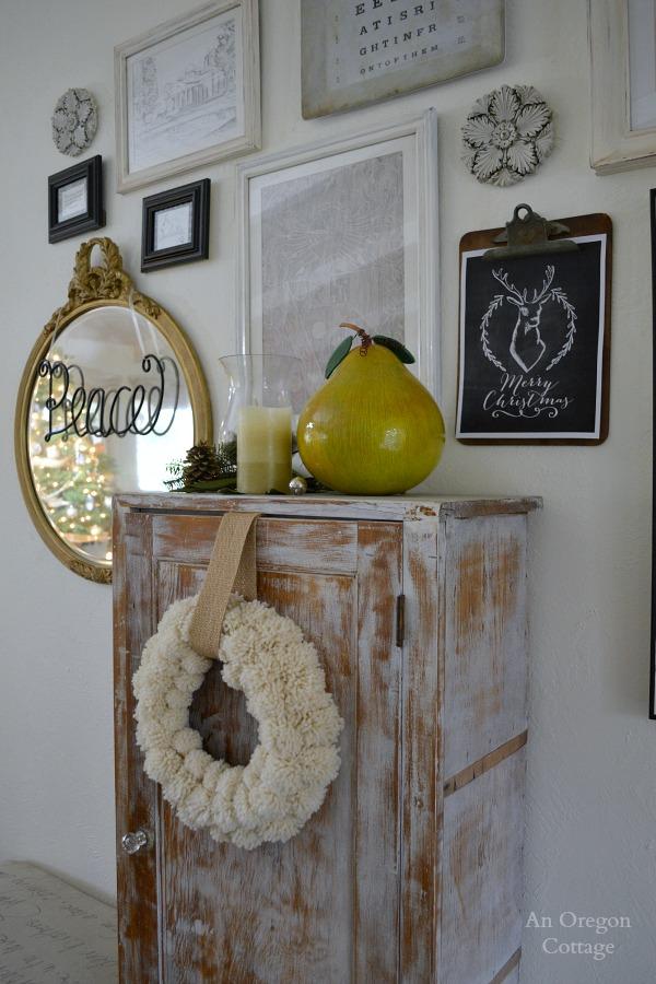 Pom Pom Wreath and Gallery Wall
