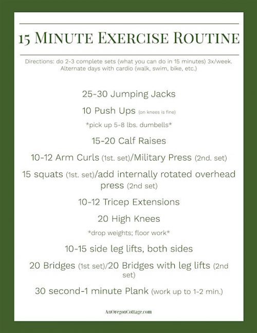 15 Minute Exercise Routine 2017