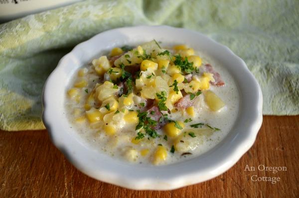 Quick Corn and Sausage Chowder