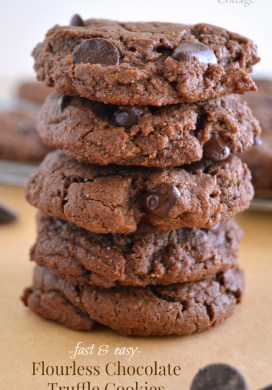 Flourless Chocolate Truffle Cookies {Grain-Free, Dairy-Free}