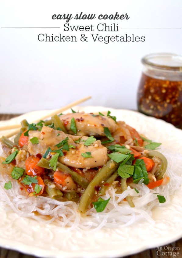 Slow Cooker Sweet Chili Chicken and Vegetables is a delicious and easy meal.