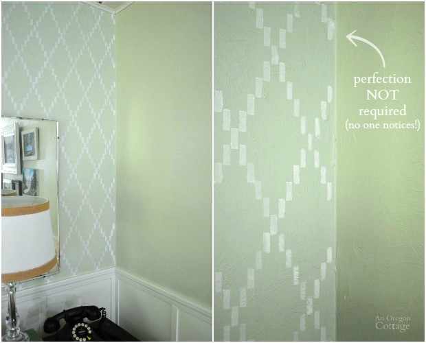 How to Stencil a Wall-Corner Details