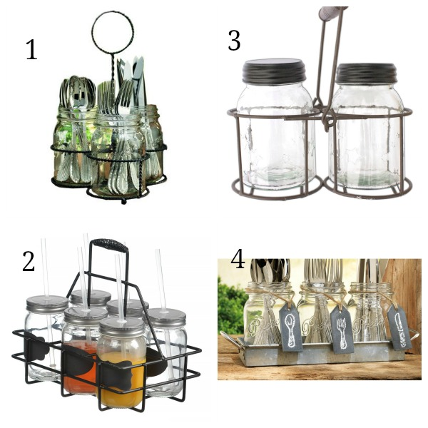 Mason Jar holders from Amazon