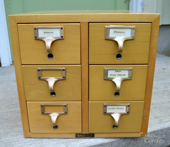 1960s Card Catalog Before