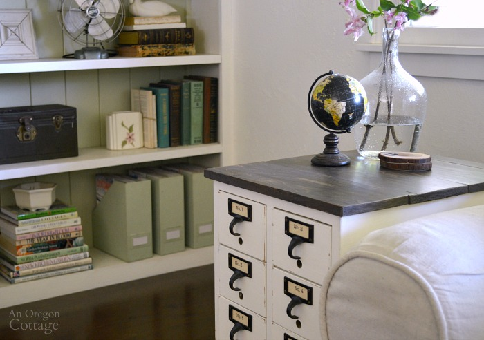 DIY Card Catalog to Side Table