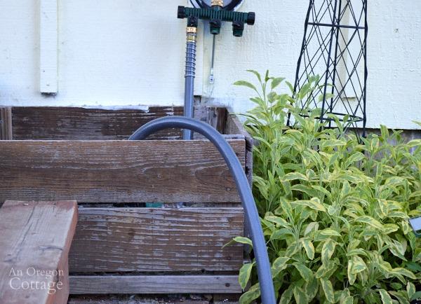 Plan for Garden Utility Spaces-Hose Holder Box