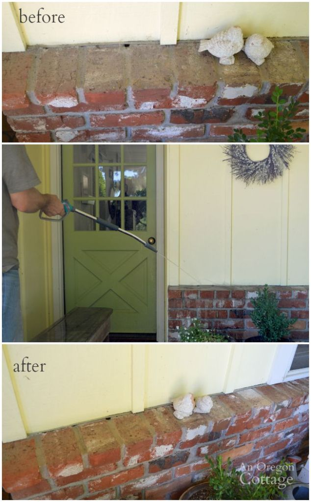 Add curb appeal in late summer by washing off dirt and cobwebs
