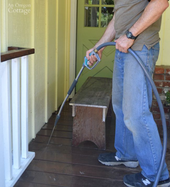 Clean siding, porches and windows in late summer for fall curb appeal