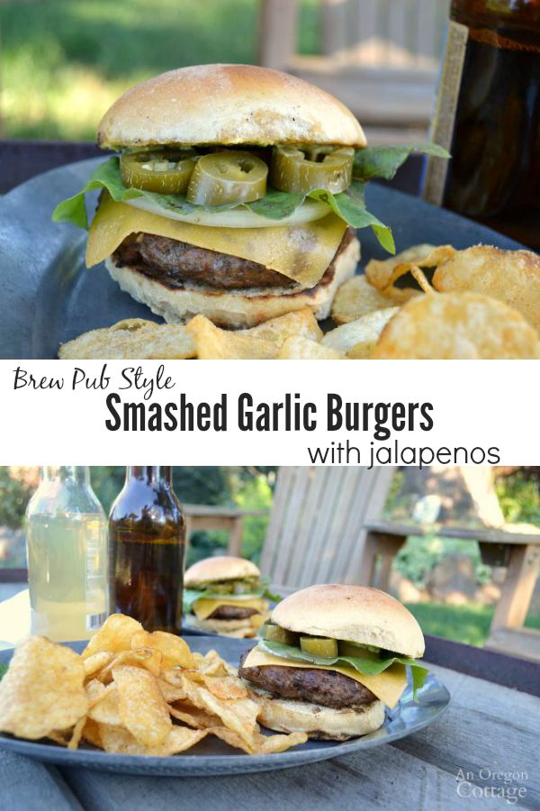 Save money making your own brew pub style burgers at home - the garlic smashed into each burger makes these special!