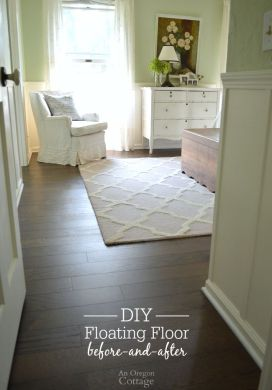 DIY Floating Floor Before-and-After