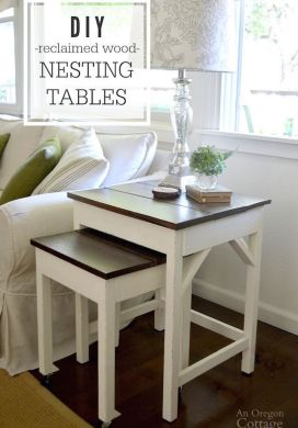 DIY Reclaimed Wood Nesting Tables