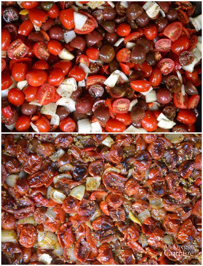 Roasting Balsamic Cherry Tomato Sauce