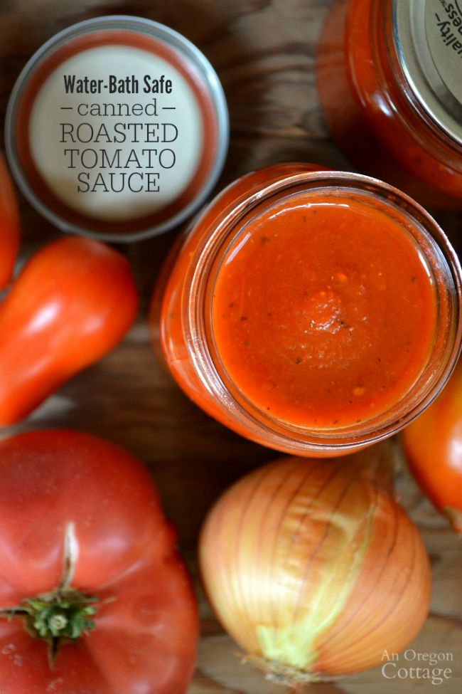 Yes, you can make a water-bath safe canned roasted tomato sauce-and the flavor is still amazing!