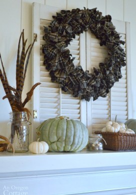 Easy, DIY Fall Plaid Wreath