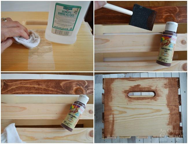 DIY Christmas Word Art Crate-steps1-4