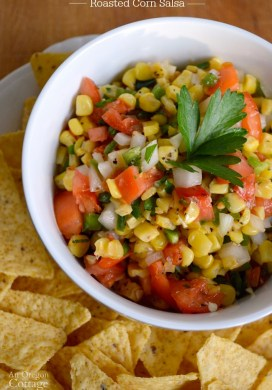 Quick & Easy Roasted Corn Salsa {using frozen corn}