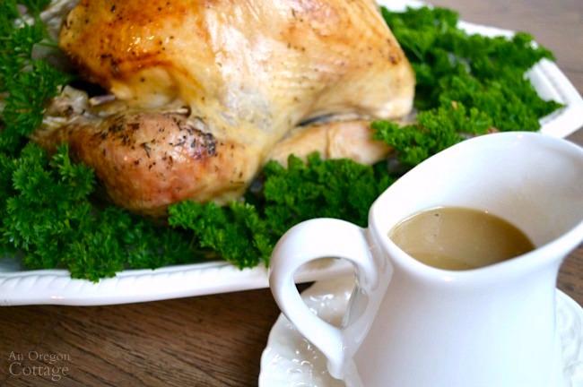 White Wine Roasted Turkey-with gravy