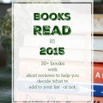 Books Read in 2015 with Reviews