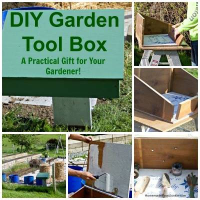 DIY Garden Tool Box via Homemade Food Junkie
