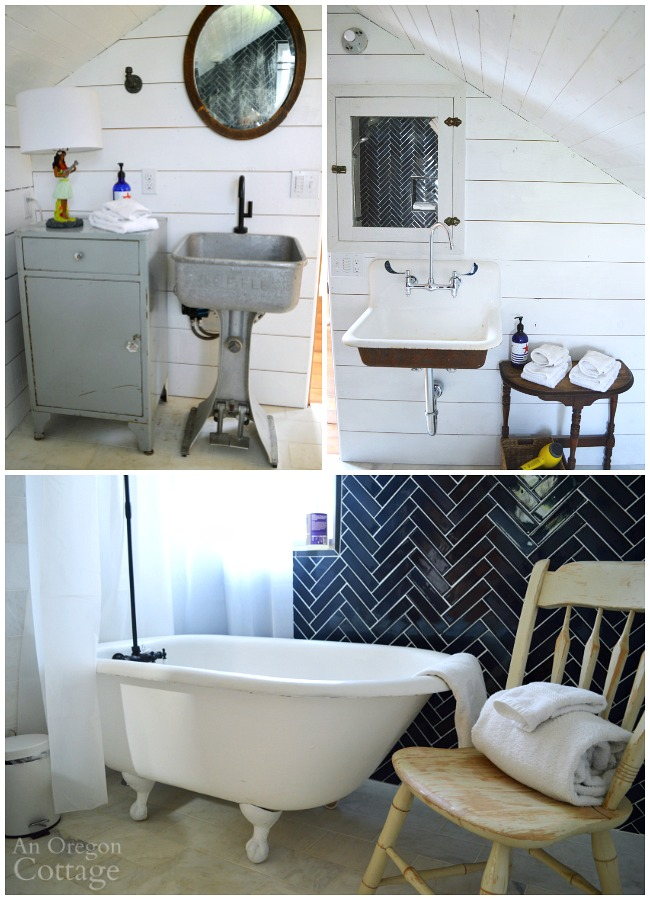 Vintage Style baths at The Reed House