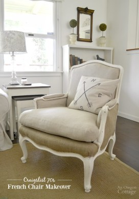 DIY Upholstered French Chairs Makeover