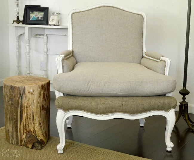 DIY Upholstered French Chairs with cushion