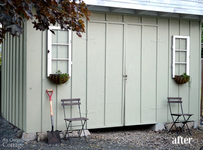 Quick Garden Shed Makeover-after
