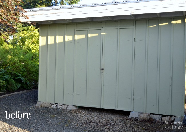 Quick Garden Shed Makeover-before
