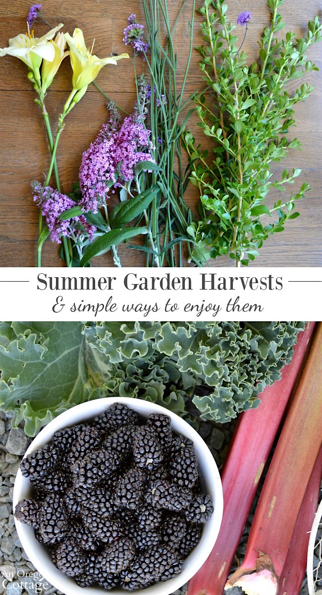 Enjoy your summer garden harvests - both flowers and edibles - with these easy ideas on how to use them