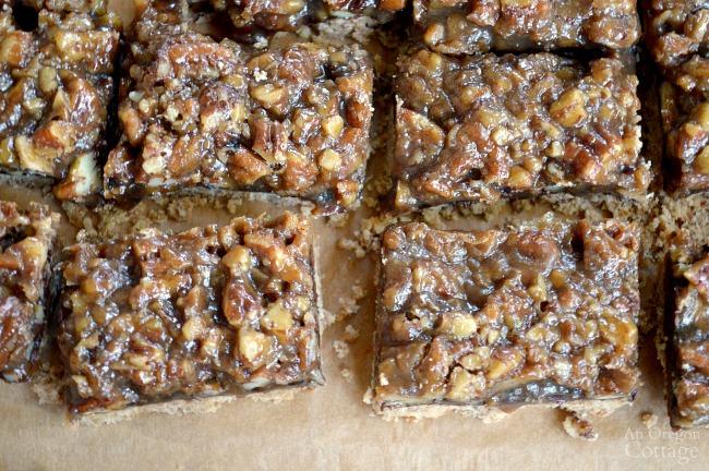 Easy Black Bottom Maple Pecan Pie Bars