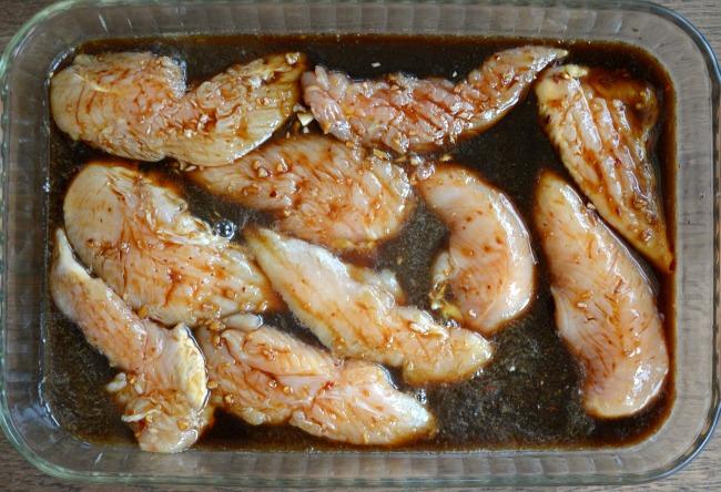 Homemade Teriyaki Sauce-marinating chicken