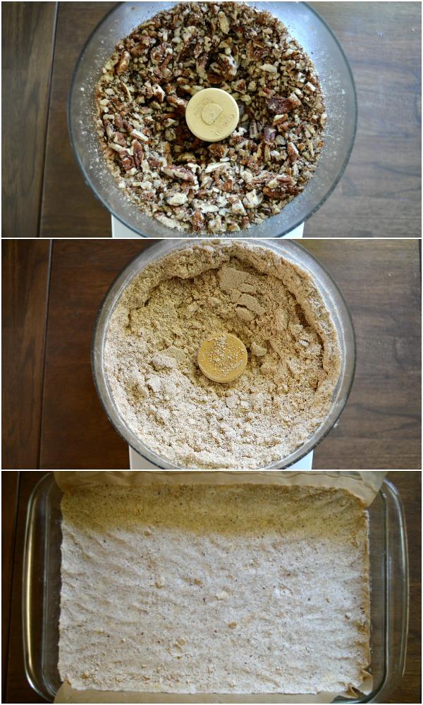 Making Pecan Pie Bars Crust