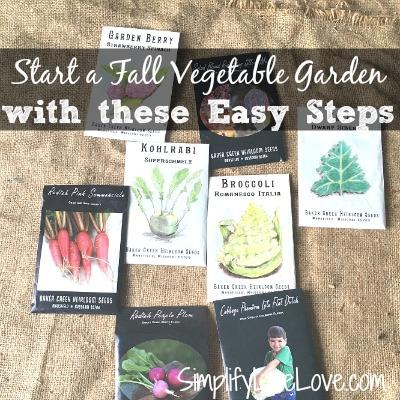 Seeds to start a fall garden via Simplify Live Love