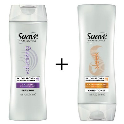 Suave Volumizing shampoo and Sleek conditioner