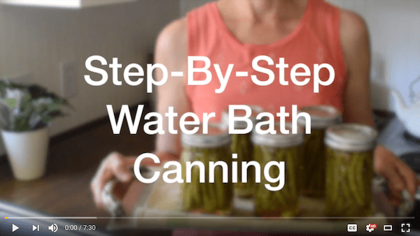 Water Bath Canning Video cover