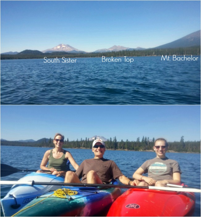 Kayaking on Big Lava Lake in Central Oregon