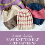 2 stash busting easy knitted hat patterns | An Oregon Cottage